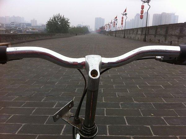 En bicicleta en Xian