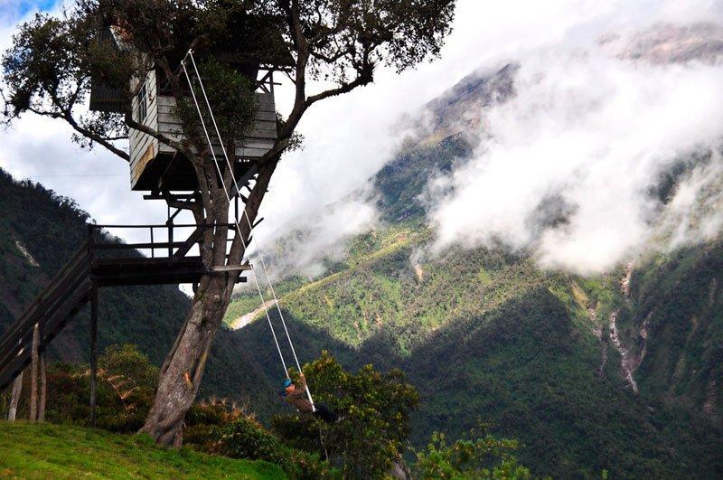 Columpio del Fin del Mundo en la Casa del Árbol en Baños, Ecuador