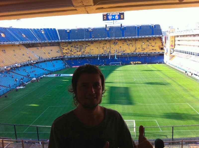 Estadio de fútbol de La Bombonera Boca Juniors