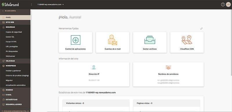 Site Tools de SiteGround mejor Hosting WordPress