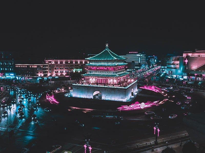 Torre de la campana o Bell Tower en Xian