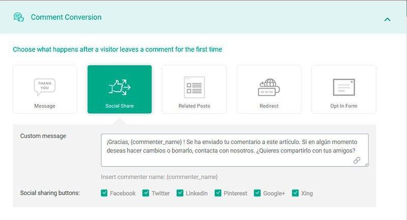 Convertir con los comentarios de Thrive Comments en tu blog
