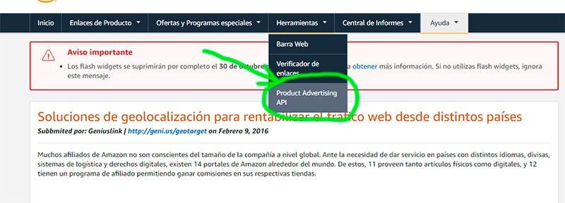 API de Amazon afiliados AAWP