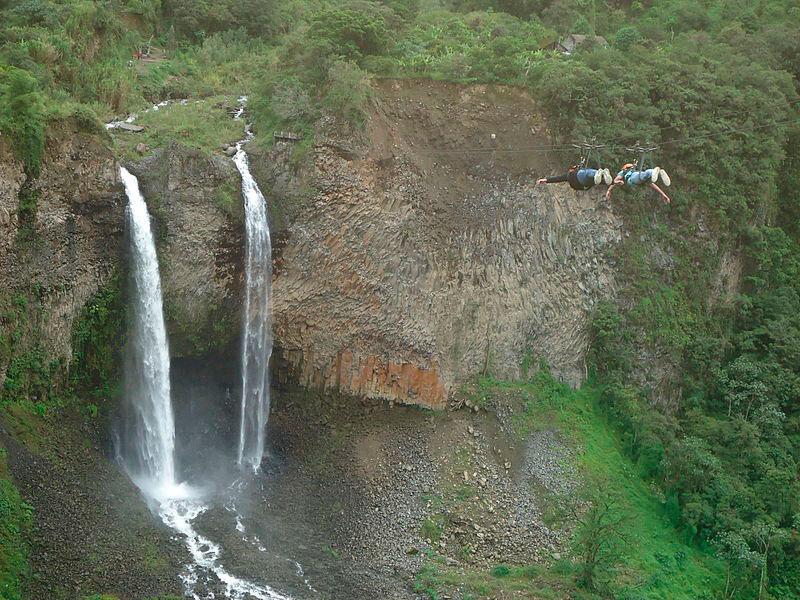 Cascada del Manto de la Novia en Baños, Tungurahua