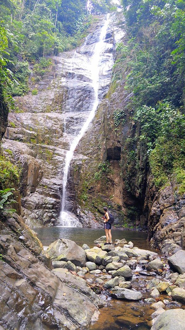 Las siete cascadas del Zapanal, la Maná