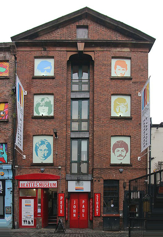 Beatles Museum en Mathew street, Liverpool