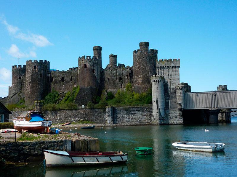 Castillo de Conwy en el norte de Gales