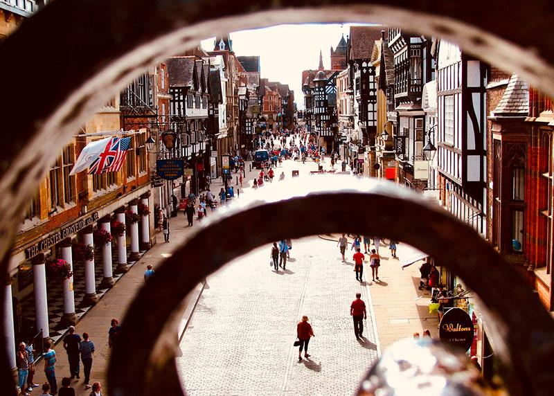 La hermosa ciudad de Chester