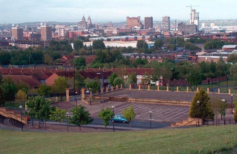 Vistas desde el Everton Park, Liverpool