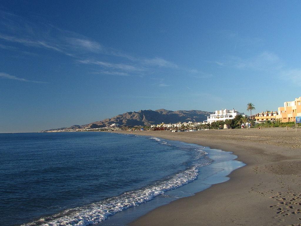 Playa nudista del Playazo de Vera