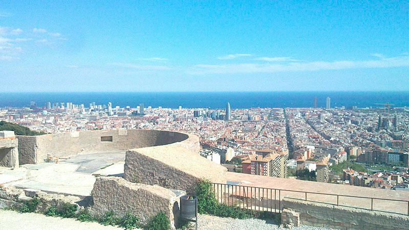 El turó de la Rovira de Barcelona bunkers