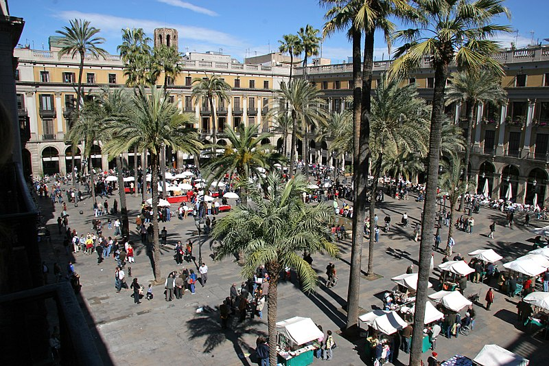 La plaza Real de Barelona