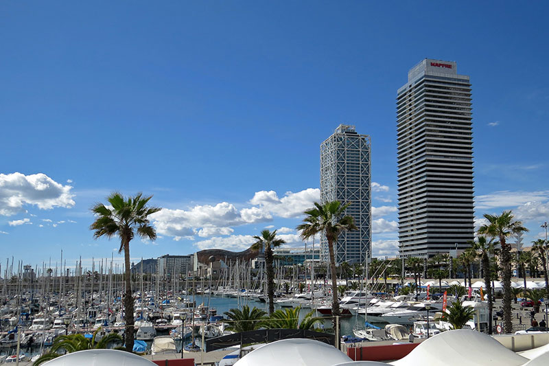 La torre Mapfre y el hotel Arts Barcelona
