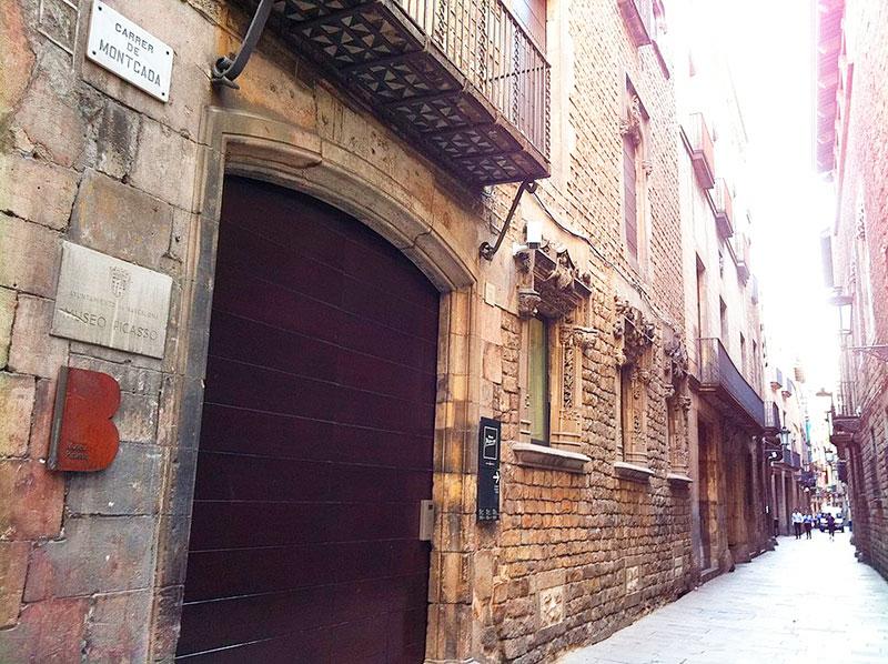 Museo Picasso de Barcelona en la calle Montcada