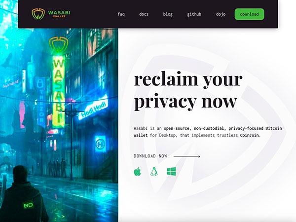 Wasabi-mejores-wallet-para-criptomonedas